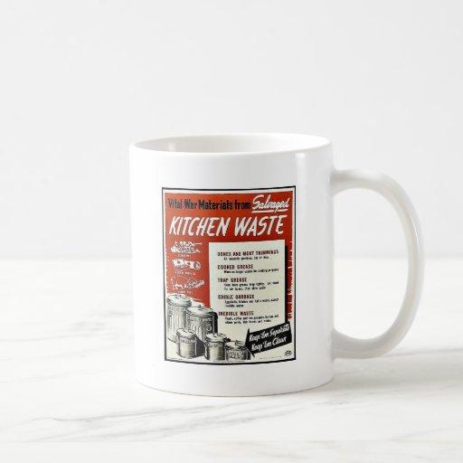 Basura de la cocina taza básica blanca