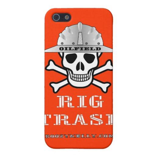 Basura del aparejo del campo petrolífero, caso del iPhone 5 funda