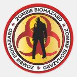 Basura del Biohazard del zombi Etiqueta Redonda