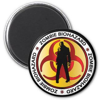 Basura del Biohazard del zombi Imán Redondo 5 Cm