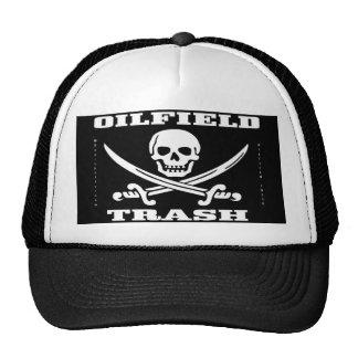 Basura del campo petrolífero, gorra, cráneo y band gorros bordados