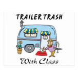 basura del parque de caravanas con la clase postales
