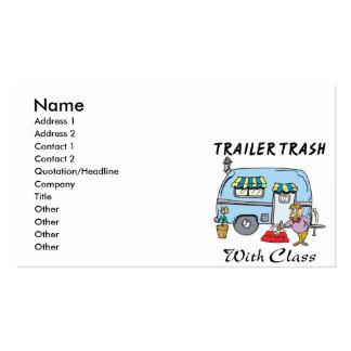 basura del parque de caravanas con la clase tarjetas de visita