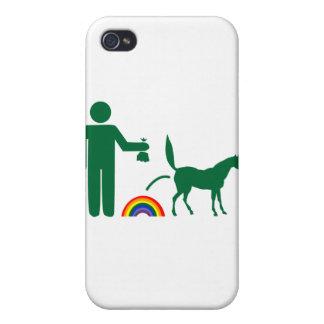 Basura del unicornio imagen solamente iPhone 4/4S funda