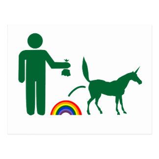 Basura del unicornio (imagen solamente) postal