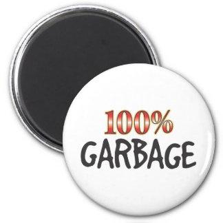 Basura el 100 por ciento imán de nevera