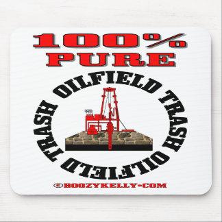 Basura pura del campo petrolífero del 100%, plataf alfombrilla de ratón