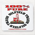 Basura pura del campo petrolífero del 100%, plataf alfombrilla de raton