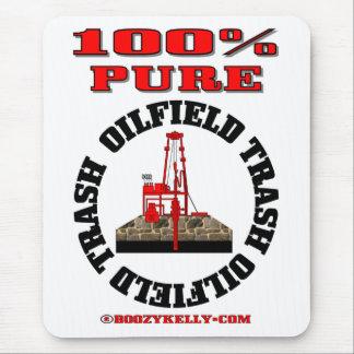Basura pura del campo petrolífero del 100 plataf alfombrilla de raton