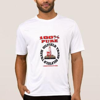 Basura pura del campo petrolífero del 100%, camisetas