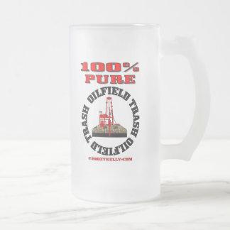 Basura pura del campo petrolífero del 100%, vidrio taza