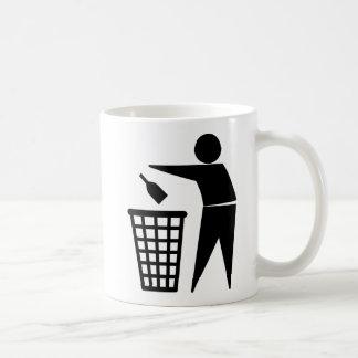 Basura que lanza lejos (botella) taza