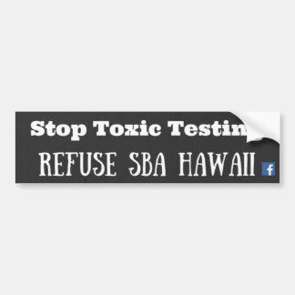 Basura SBA Hawaii Pegatina Para Auto