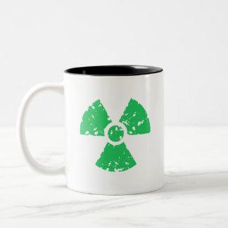 Basura tóxica verde de Kelly Taza De Dos Tonos