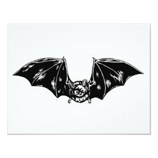 Bat 4.25x5.5 Paper Invitation Card