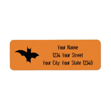 Halloween Themed Bat Address Label