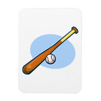 bat and ball rectangular photo magnet