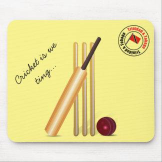 Bat And Ball Trinidad And Tobago Cricket Mouse Pad
