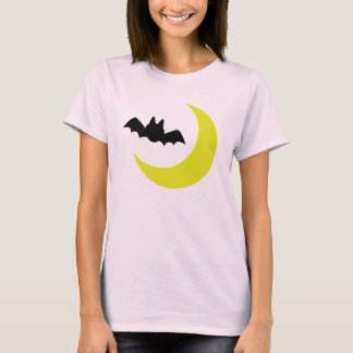 Bat and Moon Halloween T-Shirt