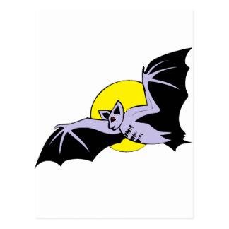bat and moon postcard