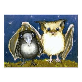 Bat and raven card