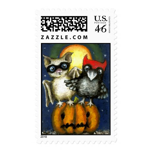 Bat and raven postage