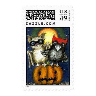Bat and raven postage