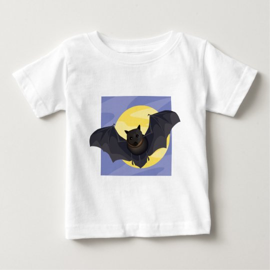 Bat at Full Moon Baby T-Shirt