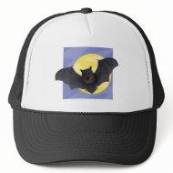 Bat at Full Moon hat