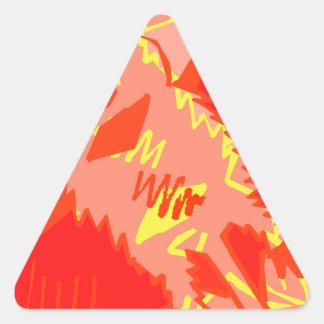 Bat Attack Triangle Sticker