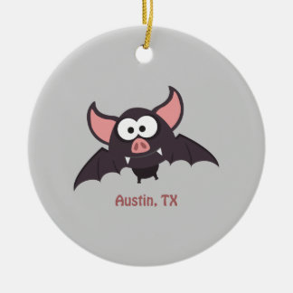 Bat - Austin, Texas Ceramic Ornament