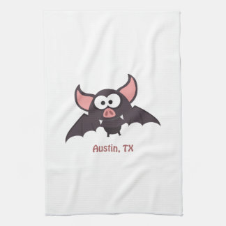 Bat - Austin, Texas Hand Towel