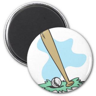 Bat & Ball 2 Inch Round Magnet
