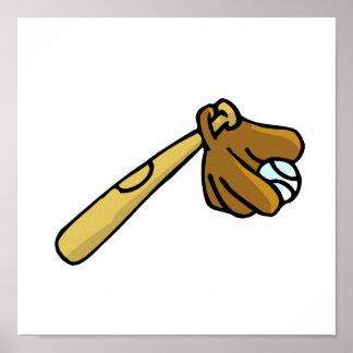 bat ball & glove print
