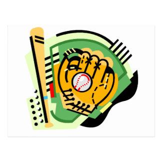 Bat, Ball, Mitt Postcard