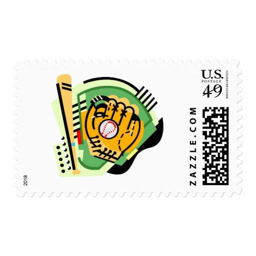 Bat, Ball, Mitt Stamps
