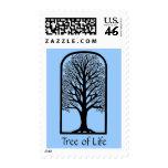 Bat Bar Mitzvah Invitation Tree of LIfe Postage Stamps