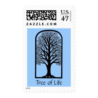 Bat Bar Mitzvah Invitation Tree of LIfe Postage Stamp
