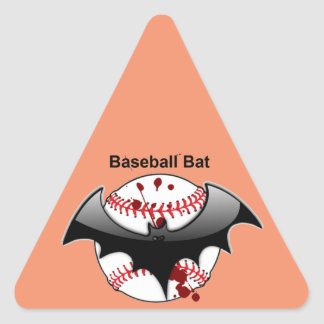 Bat...Baseball...Baseball Bat Triangle Sticker