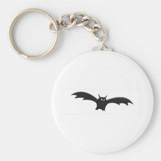 Bat Basic Round Button Keychain