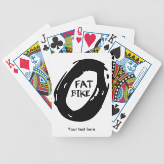 Bat Bike Wheel Bicycle Playing Cards