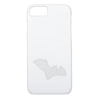 Bat - Black Dots - Snow Style iPhone 8/7 Case