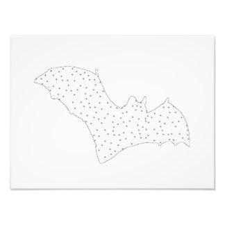 Bat - Black Dots - Snow Style Photo Print