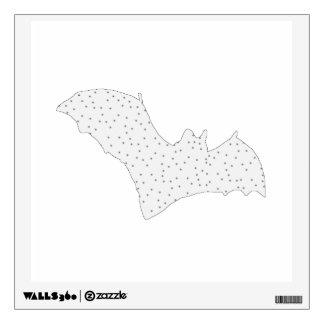 Bat - Black Dots - Snow Style Wall Decal