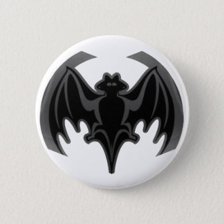 Bat Black Inv The MUSEUM Zazzle Gifts Pinback Button