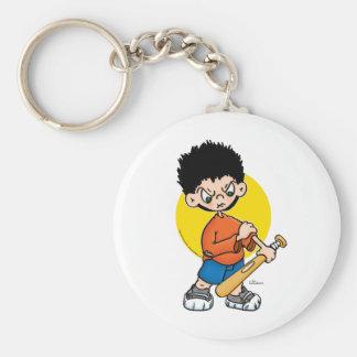 Bat Boy Basic Round Button Keychain
