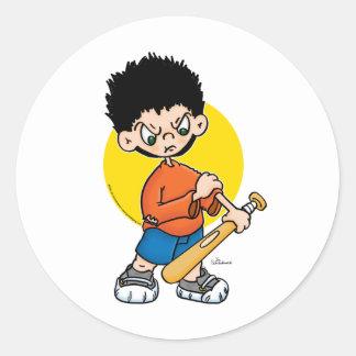 Bat Boy Classic Round Sticker