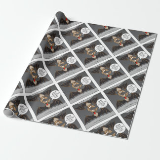 Bat Cartoon Wrapping Paper