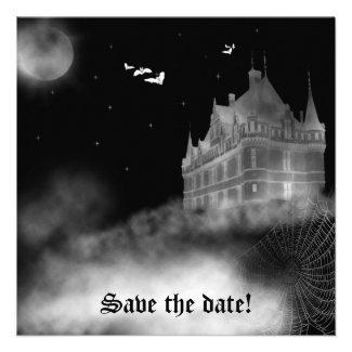 Bat Castle Vampire Goth Wedding Invitation
