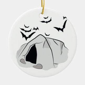 Bat Cave Ceramic Ornament